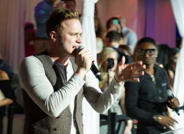 Olly Murs hosts and performs at Pure in Caesars Palace on Saturday, May 11, 2013.