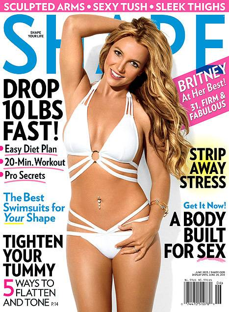 Britney Spears on the cover of Shape.