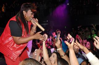 Missy Elliott hosts and performs at Haze in Aria on Thursday, May 16, 2013.