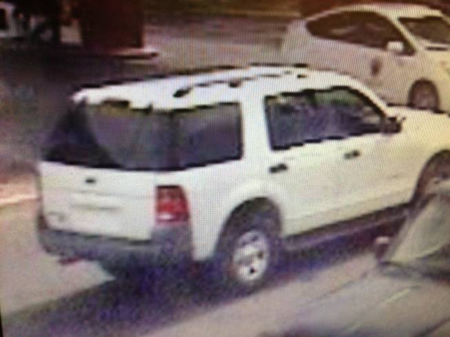 "This photo shows what Metro Police described as a ""vehicle of interest"" in connection with the theft of an iPad in which a teen boy was ran over and killed by an SUV on Thursday, May 16, 2013."