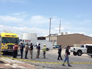An explosion was reported Friday late morning at the Nevada Truck and Trailer Repair business, May 17, 2013.