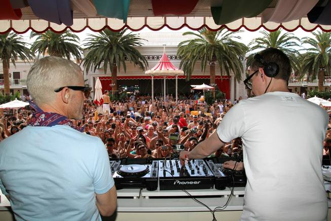 Above and Beyond at Encore Beach Club on Saturday, May ...