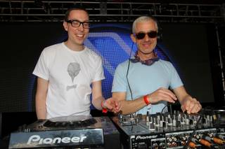 Above and Beyond at Encore Beach Club on Saturday, May 18, 2013.