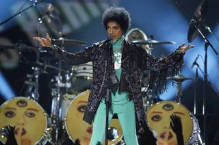 Prince performs during the 2013 Billboard Music Awards on Sunday, May 19, 2013, at MGM Grand Garden Arena.
