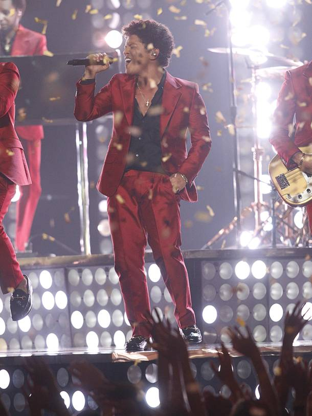 Singer Bruno Mars performs during the 2013 Billboard Music Awards at the MGM Grand Garden Arena Sunday, May 19, 2013.