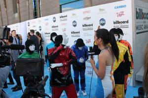 Luxor headliners Jabbawockeez hit the arrivals carpet at the 2013 Billboard Music Awards at MGM Grand Garden Arena on Sunday, May 19, 2013.