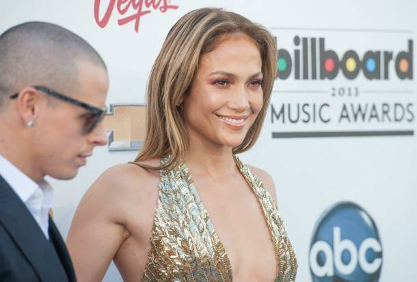 Casper Smart and Jennifer Lopez arrive at the 2013 Billboard Music Awards at MGM Grand Garden Arena on Sunday, May 19, 2013.