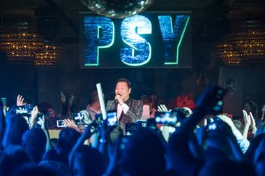 Psy hosts and performs at Lavo in the Palazzo on Sunday, May 19, 2013.