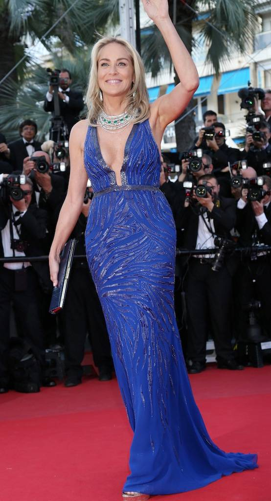 Sharon Stone at the 2013 Cannes Film Festival.