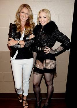Celine Dion and Madonna at the 2013 Billboard Music Awards at MGM Grand Garden Arena on Sunday, May 19, 2013.