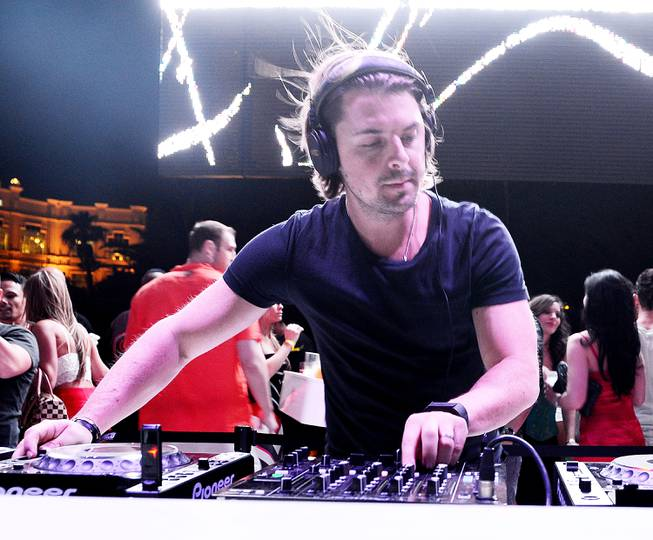 Axwell performs during the debut of Eclipse at Daylight Beach ...