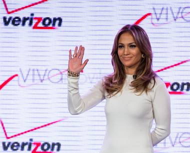 Jennifer Lopez promotes Verizon's Viva Movil by Jennifer Lopez at The Venetian on Wednesday, May 22, 2013.