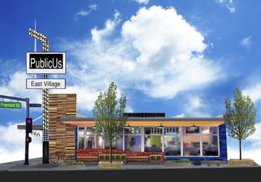 An artist's rendering of the PublicUs restaurant, which is scheduled to open later this summer at 1126 Fremont St.