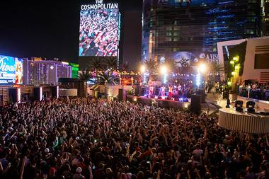 Kendrick Lamar performs at Boulevard Pool in The Cosmopolitan of Las Vegas on Wednesday, May 22, 2013.