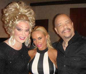 "Frank Marino, Coco Austin and Ice-T at Marino's ""Divas"" at The Quad on Wednesday, May 22, 2013."