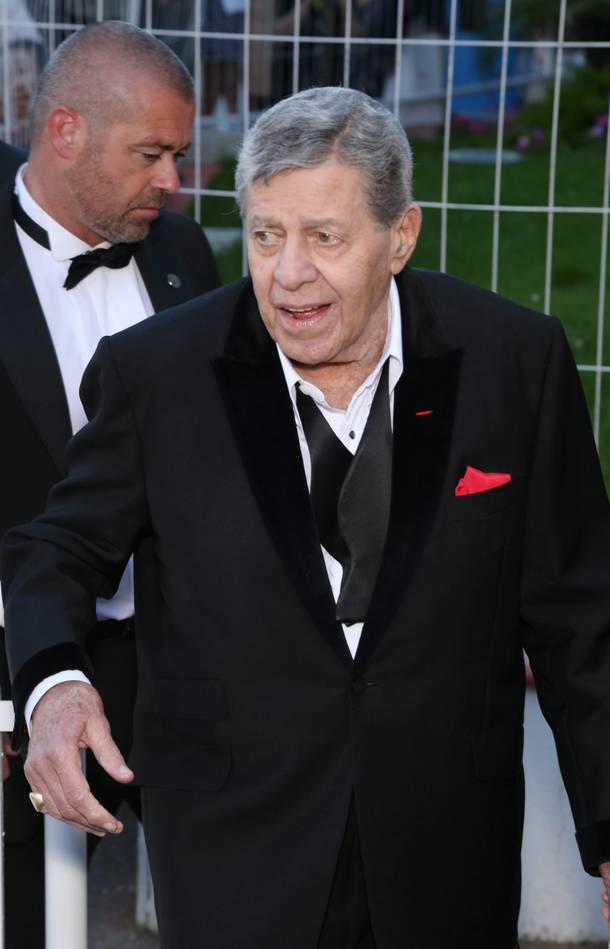 Jerry Lewis promotes his new film