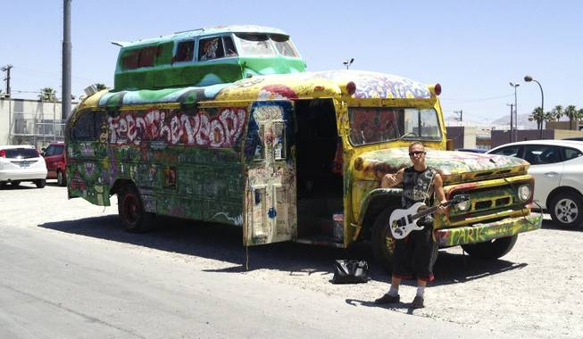 "Donny ""Skyy"" Squires and the ""Magic Jukebox"" bus, Tuesday, May 28, 2013."