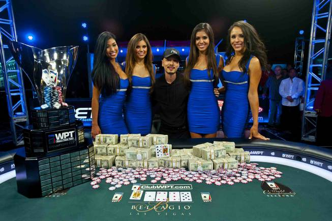 2013 World Poker Tour $25K Championship winner Chino Rheem at ...