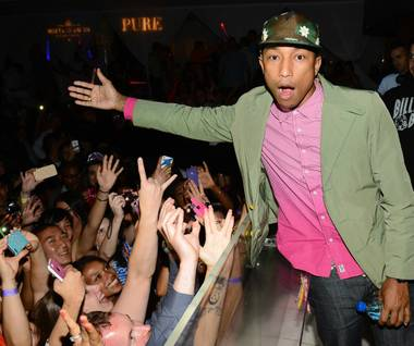 Grammy Award winner, singer-songwriter and producer Pharrell Williams hosted and performed at Pure in Caesars Palace on Saturday night. The ...