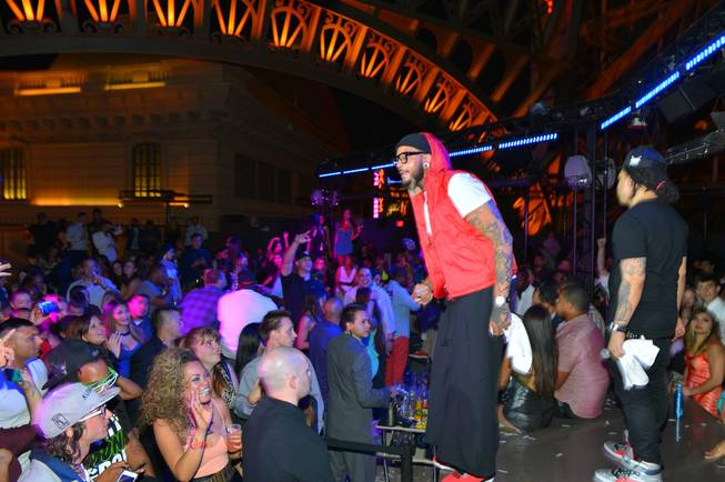 Travie McCoy hosts and performs at Chateau Nightclub in Paris ...