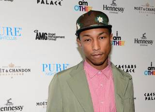 Pharrell Williams hosts and performs at Pure in Caesars Palace on Saturday, May 25, 2013.