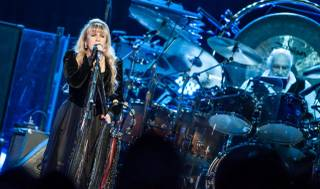 Fleetwood Mac -- Lindsey Buckingham, Stevie Nicks, Mick Fleetwood and John McVie -- at MGM Grand Garden Arena on Sunday, May 26, 2013.