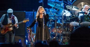 Fleetwood Mac — Lindsey Buckingham, Stevie Nicks, Mick Fleetwood and John McVie — at MGM Grand Garden Arena on Sunday, May 26, 2013.