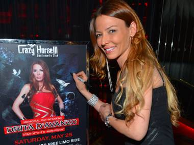 """Mob Wives"" star Drita D'Avanzo hosts at Crazy Horse III on Saturday, May 25, 2013."