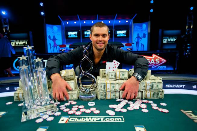 The 2013 World Poker Tour Super High Roller winner David ...