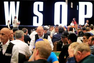 Players participate in the $1,000 No Limit Hold 'Em Tournament at the World Series of Poker at the Rio on Thursday, May 30, 2013.