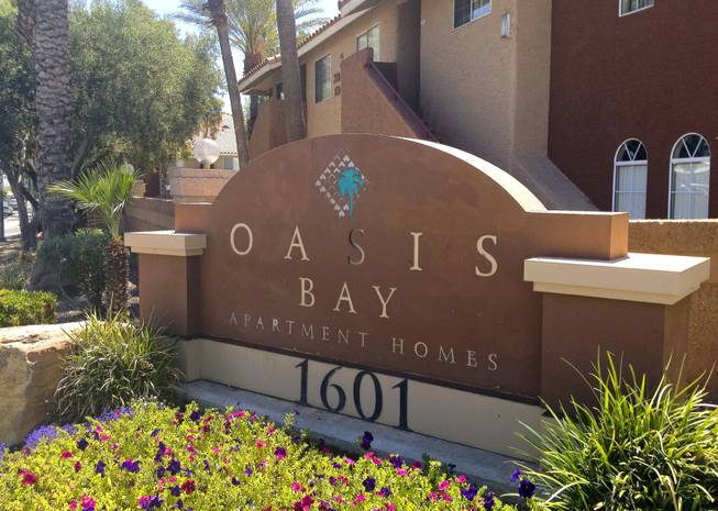 Las Vegas Valley apartment buildings are selling at the fastest pace in years, and one recent deal involved the bulk sale of 14 complexes for $200 million. Oasis Bay apartments, 1601 E. Katie Ave., photographed on May 29, 2013, was one of the 14.