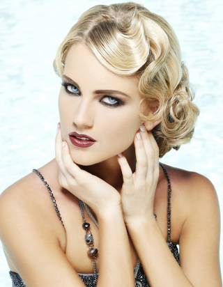 Miss Nevada USA 2013 Chelsea Caswell poses for fashion photographer Fadil Berisha in a 1920s