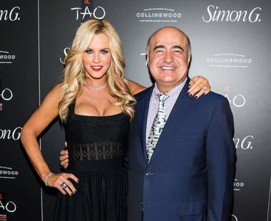 Jenny McCarthy and Simon Ghanimian attend the 2013 Simon G. Jewelry Summer Soiree at Tao in The Venetian on Saturday, June 1, 2013.