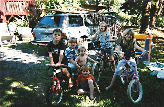 The Lindmeier family came to the United States in late 1993. After a medical emergency prevented their timely move to Australia, they overstayed their permitted stays in the U.S. Here six of the Lindmeier children are seen in Hawaii, where they stayed for several years while trying to work out their immigration status. Eventually they moved to Pahrump, Nev., and were deported in 2011.