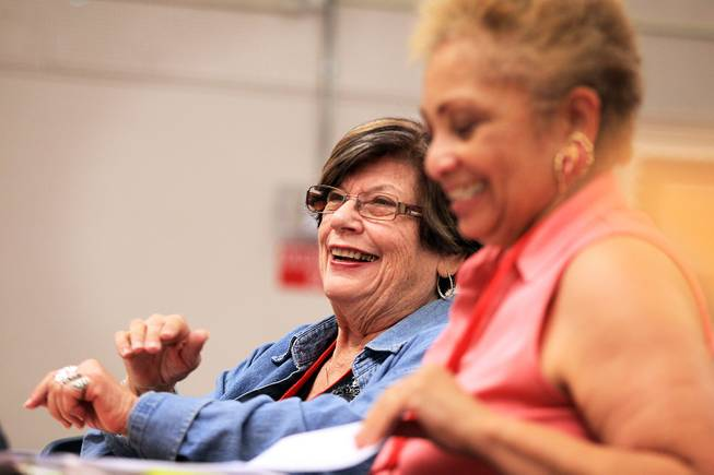 Geraldine Antelman takes a parapsychology course taught by Ruth Elliott, 92, at the Osher Lifelong Learning Institute at UNLV Paradise campus in Las Vegas on Wednesday, June 5, 2013.