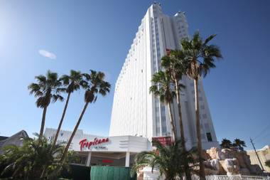 "The view of the Tropicana on the Las Vegas Strip. ""Raiding the Rock Vault"" is ending its residency at Tropicana Theater."