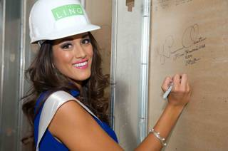 Miss Hawaii USA 2013, Brianna Acosta, signs the wall at LINQ in Las Vegas, Nevada on Thursday, June 6, 2013. She will spend the next 2 weeks touring, filming, rehearsing, and making new friends while she prepares to compete for the coveted Miss USA Diamond Nexus Crown. Tune in to the LIVE NBC Telecast at 9:00 PM (EST) on June 16, 2013 to see who will win the title of Miss USA 2013.HO/Miss Universe Organization L.P., LLLP.