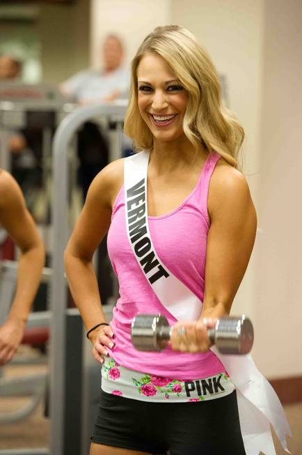 Miss Vermont USA 2013, Sarah Westbrook, works out at Planet ...