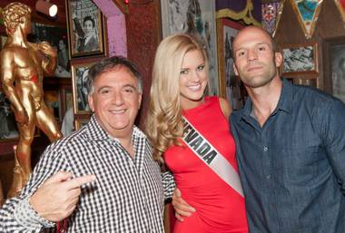 2013 Miss USA Pageant contestants dine at Buca di Beppo on Flamingo on Wednesday, June 5, 2013. Planet Hollywood head honcho Robert Earl, Miss Nevada USA 2013 Chelsea Caswell and actor Jason Statham are pictured here.