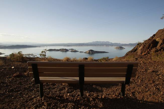 A bench is seen along the Railroad Trail at Lake Mead Thursday, June 6, 2013.