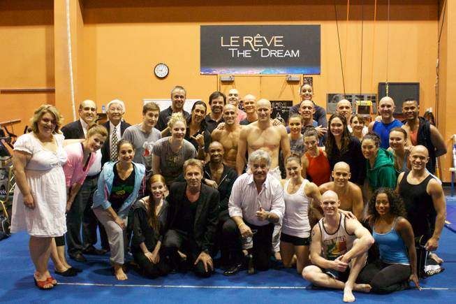 "Tony Orlando with cast member of ""Le Reve — The Dream"" at the Wynn on Thursday, June 6, 2013."