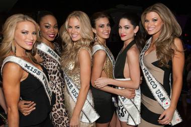 It was a jam-packed weekend for the 51 contestants in the 2013 Miss USA Pageant in Las Vegas that included a trek to Downtown Las Vegas ...