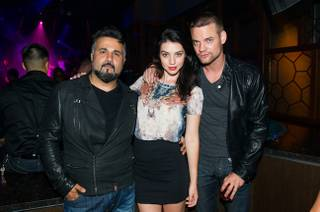 Shane West, right, celebrates his 35th birthday at the Ling Ling Club in Hakkasan Las Vegas at MGM Grand on Saturday, June 8, 2013. DJ Calvin Harris spun in the main room.