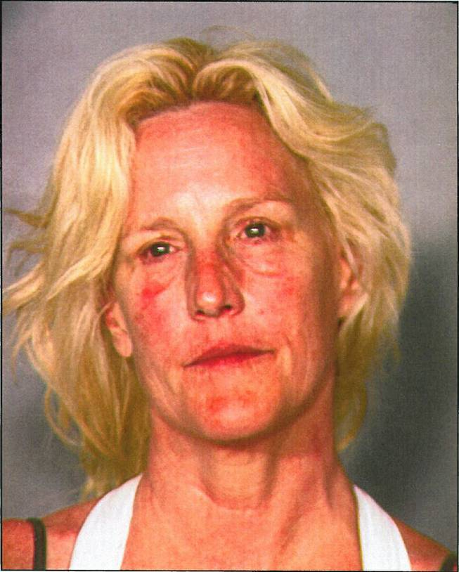 A booking photo of Erin Brockovich-Ellis after her arrest Friday, June 7, 2013, at Lake Mead on a count of operating a boat while intoxicated.