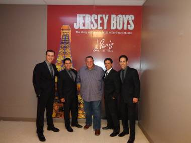 "Billy Gardell and cast members of ""Jersey Boys"" at Paris Las Vegas."