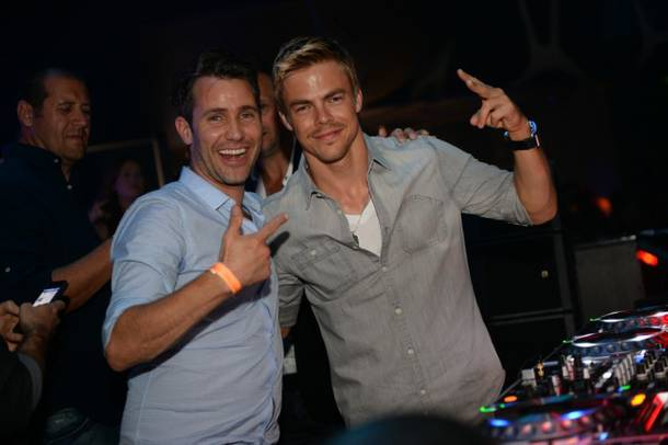 Derek Hough, right, at Hakkasan Las Vegas in MGM Grand.