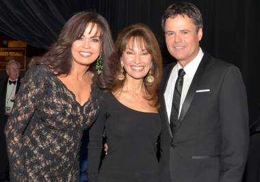 Marie Osmond, Susan Lucci and Donny Osmond at the Flamingo.