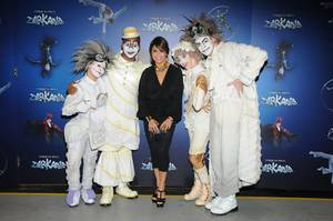 "Paula Abdul at ""Zarkana"" in Aria."