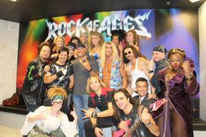 "Randy Couture and the cast of ""Rock of Ages"" at The Venetian."