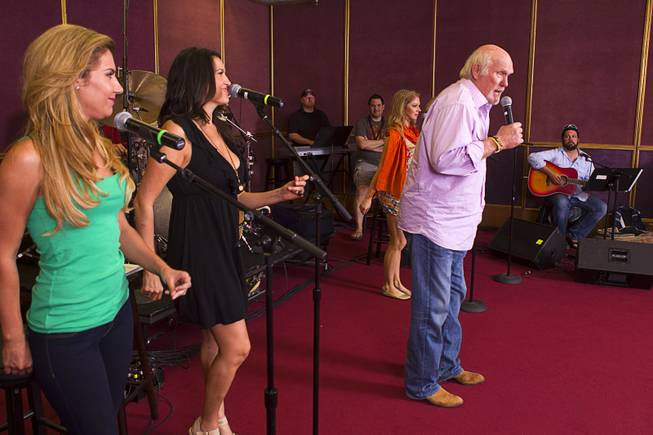 "NFL legend Terry Bradshaw rehearses for his stage show at the SIR Studios Wednesday, June 12, 2013. Bradshaw will star in ""A Life In Four Quarters"" at the Mirage."
